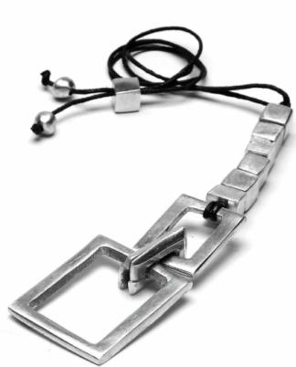 Pendente 6 cubi e rettangolo, alluminio 100% riciclato. nickel tested, by Vesto Pazzo