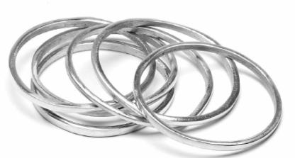 Bracciale alluminio riciclato - 41 - by VESTO PAZZO