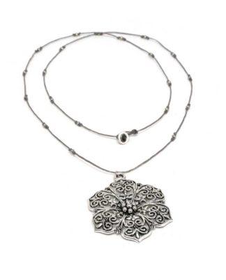 collana-fiori-arabesque - love silver Pois Nero Ladispoli