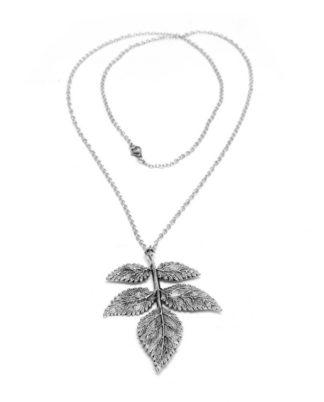 Collana 5 foglie love silver vestopazzo by Pois Nero Ladispoli