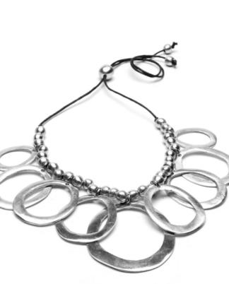Collana 9 rombi in alluminio riciclato by Vesto Pazzo