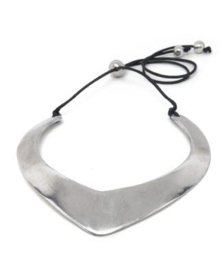 collana rigida alluminio Pois Nero