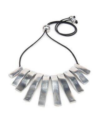 collana 10 barrette in alluminio - Pois Nero Ladispoli