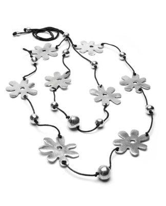 collana alluminio riciclato by vestopazzo - solo da bigiotteria Pois Nero Ladispoli
