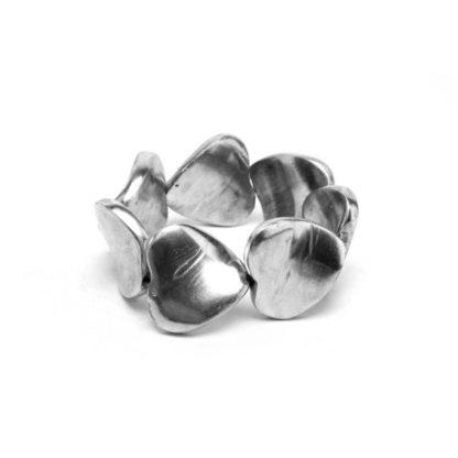 bracciale 7 cuori alluminio riciclato by vestopazzo - solo da bigiotteria Pois Nero Ladispoli