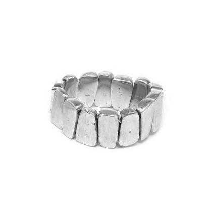 bracciale alluminio riciclato by vestopazzo - solo da bigiotteria Pois Nero Ladispoli