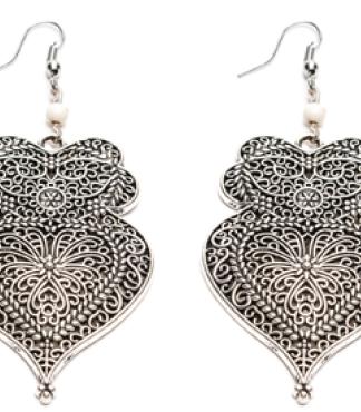orecchino-gufo-arabesque love silver vestopazzo by Pois Nero Ladispoli