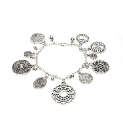 bracciale-ciondoli-arabesque- love silver Pois Nero Ladispoli
