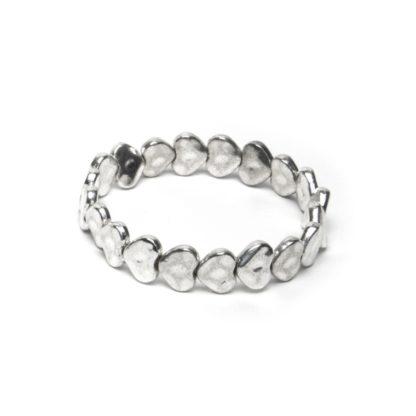 Bracciale elastico cuori battuti love silver vestopazzo by Pois Nero Ladispoli