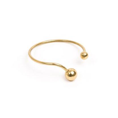 bracciale-rigido-sfere in ottone - Pois Nero Ladispoli