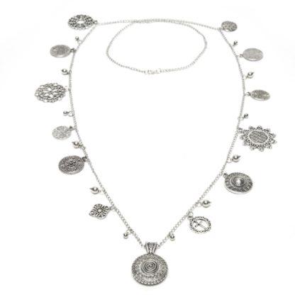 collana-ciondoli-arabesque- love silver Pois Nero Ladispoli