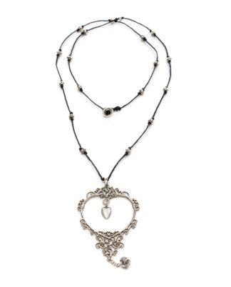 collana-cuore-fiaba love silver Pois Nero Ladispoli