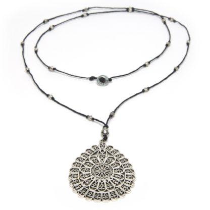 collana-goccia-arabesque - love silver Pois Nero Ladispoli