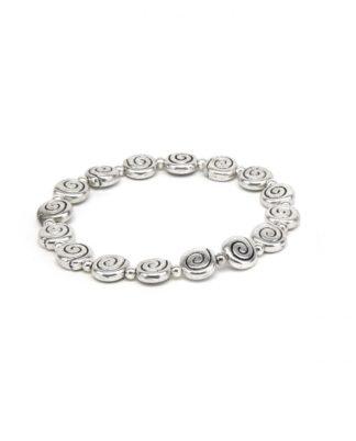 bracciale-elastico-spirale - Pois Nero Ladispoli