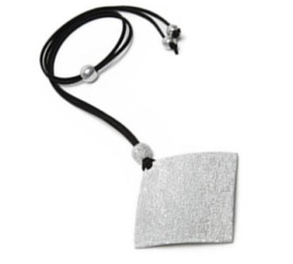 PENDENTE A ROMBO - Linea LUCES by Vestopazzo new line 2018/2019 - Alluminio diamantato, nickel free - In esclusiva da Pois Nero Ladispoli
