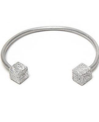 LUC6000 - Bracciale rigido alluminio diamantato by Vestopazzo