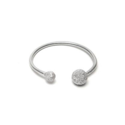 LUC6001 - Bracciale rigido alluminio diamantato by Vestopazzo