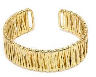 bracciale ottone, linea Doodle Vestopazzo, in esclusiva da Pois Nero Ladispoli