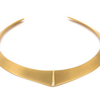 Collana a punta semplice in ottone by Vesto Pazzo. Solo da Pois Nero Ladispoli