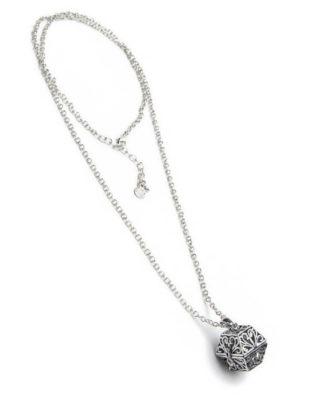 Collana con pendente apribile. Bigiotteria placcata in argento con ganci ipoallergenici.
