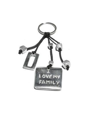 Portachiavi ilove my family by Vesto Pazzo