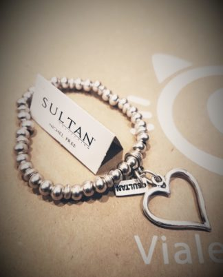 Bracciale elastico con cuore - Sultan collection