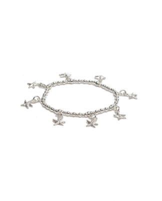 Bracciale elastico pendenti stelle marine by Vestopazzo bagno in argento, nichel free, anallergico.Pois Nero Ladispoli