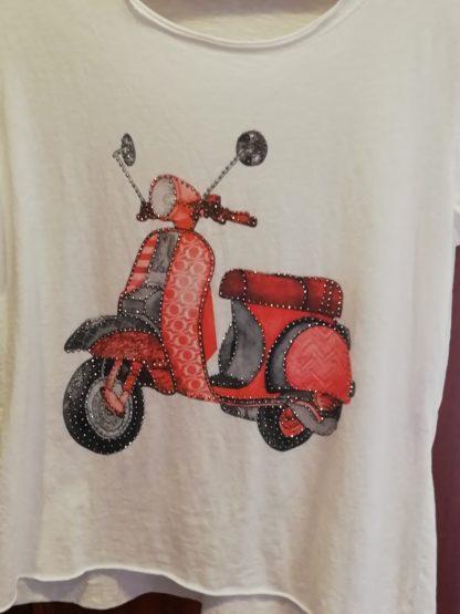 T-Shirt Vespa, cotone 100% - Pois Nero Ladispoli - La T-Shirt dell'estate