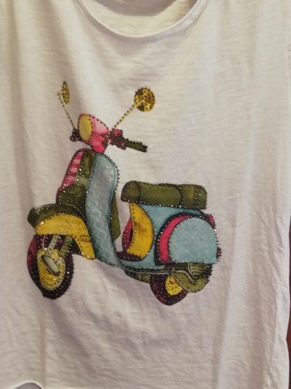 T-Shirt Vespa, cotone 100% - Pois Nero Ladispoli
