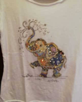 T-Shirt Elefante cotone 100% Taglia unica - Pois Nero Ladispoli - La T-Shirt dell'estate