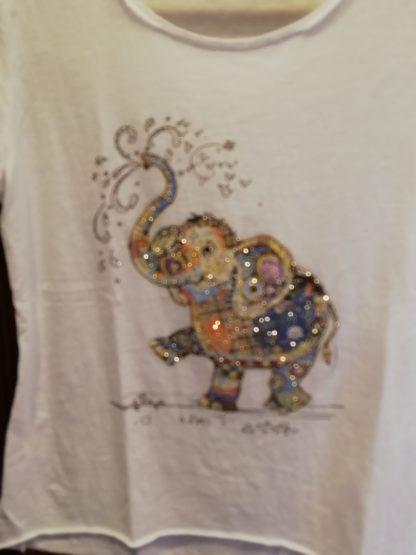 T-Shirt Elefante cotone 100% Taglia unica - Pois Nero Ladispoli - La T-Shirt dell'estate