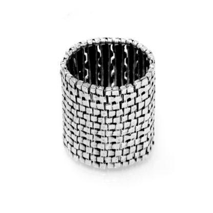 """Bracciale Sultan collection in lega denominata """"Zama"""", composta da 4 metalli: lo Zinco, l'Alluminio, il Magnesio ed il Rame, il tutto bagnato in argento, privo di nichel."""