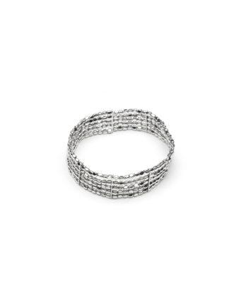 Bracciale fascia elastica pepita by Vestopazzo. Bigiotteria placcata in argento, nickel tested.