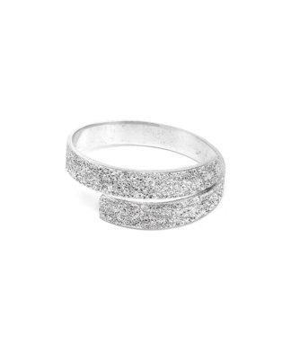 Bracciale incrocio alluminio diamantato