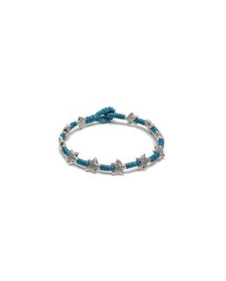 bracciali-1-giro-stelle marine puntinate jean. Elementi placcati argento e nickel tested. Bigiotteria Pois Nero Ladispoli o www.poisnero.it