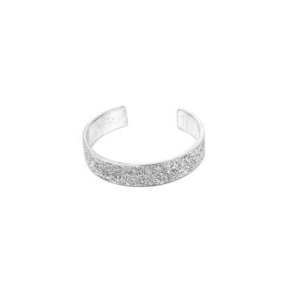 Bracciale fascia 1 cm by Vestopazzo in Alluminio diamantato. Pois Nero Ladispoli - www.poisnero.it