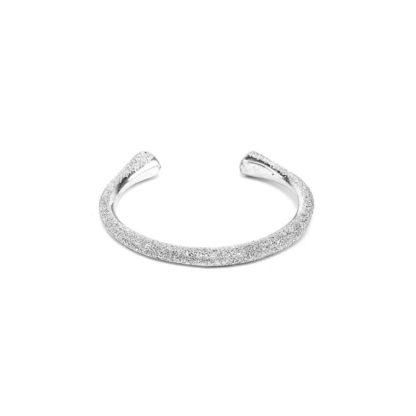 Bracciale fascia Mada by Vestopazzo in Alluminio diamantato. Pois Nero Ladispoli – www.poisnero.it
