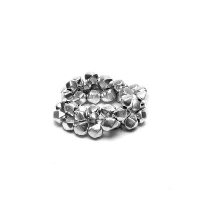Bracciale Pepite alluminio riciclato 100%, Anallergico e inossidabile. Pois Nero Ladispoli