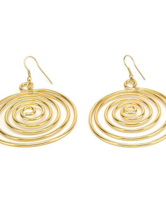 Orecchini a spirale by Vestopazzo in ottone - . Pois Nero Ladispoli - www.poisnero.it