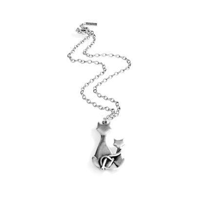 Collana gatti abbracciati lunga 70/80 cm in ZAMA Sultan collection