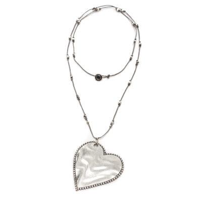 Collana cuore ghiera linea Love by Vestopazzo.