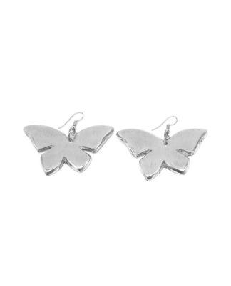 Orecchini farfalla piena. 100% alluminio riciclato. bigiotteria nickel tested.