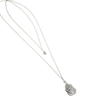 Catenina doppia goccia irregolare by Vestopazzo in zinco e placcata argento