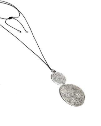 Collana pendenti placche Vestopazzo in zinco e placcata argento