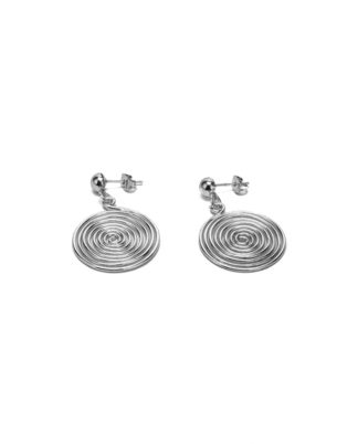 Orecchini spirale con elementi placcati in argento, nickel tested.