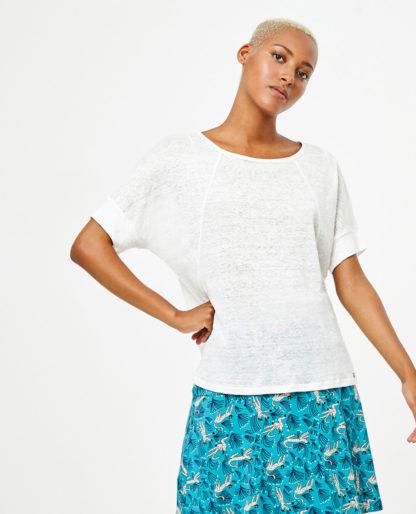 Maglietta oversize m/c LISO LINO Bianco by Surkana