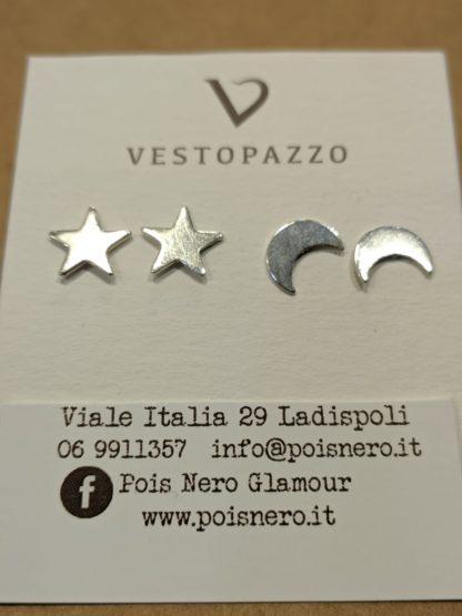 Orecchini stelle e luna by Vestopazzo