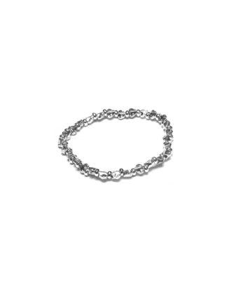 Bracciale elastico cuori irregolari. Bigiotteria placcata in argento, nickel tested by Vestopazzo