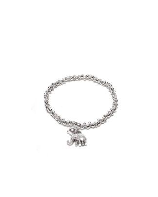 Bracciale elastico charm elefantino