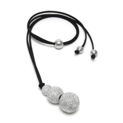 Pendente 3 sfere by Vestopazzo in alluminio diamantato.